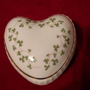 Cute heart shaped trinket box